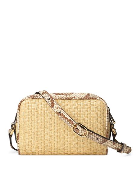 Gucci Ophidia Mini Woven Crossbody Bag