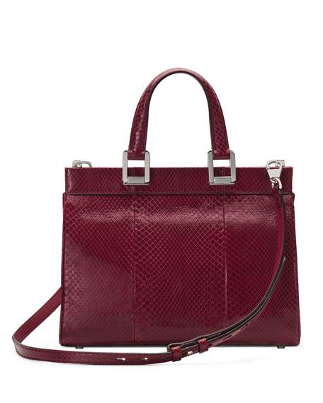 Gucci Gucci Zumi Small Snakeskin Top-Handle Bag