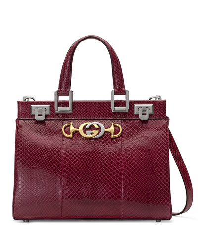 e52d0a527e2b Gucci Gucci Zumi Small Snakeskin Top-Handle Bag from Neiman Marcus ...