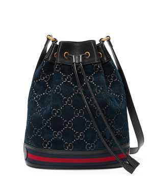 51c2f1c19a1 Gucci GG Velvet Bucket Bag