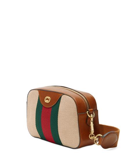 Gucci GG Vintage Canvas Web Stripe Messenger Bag