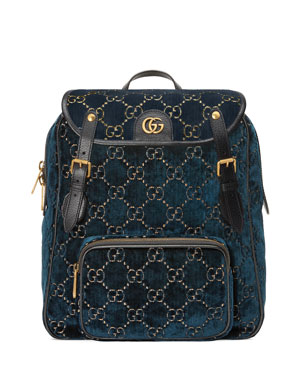 e1edd701c09 Gucci GG Velvet Backpack