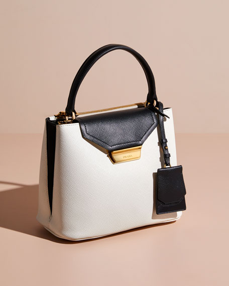 Prada Two-Tone Top Handle Bag