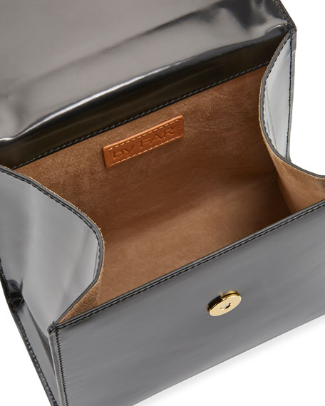 BY FAR Monet Two-Tone Semi-Patent Top-Handle Bag