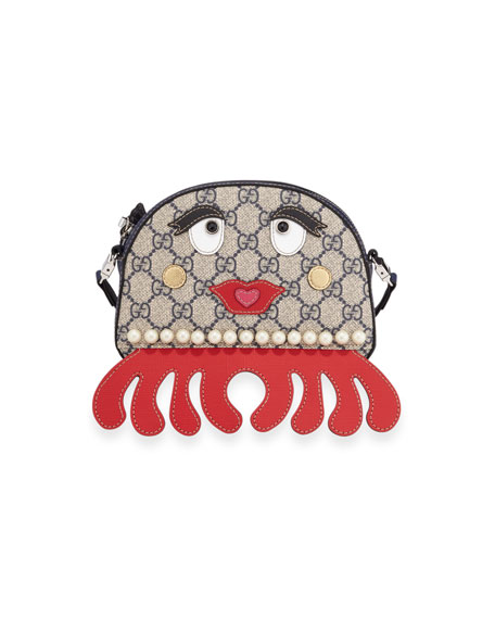 Gucci Girls' GG Supreme Octopus Shoulder Bag