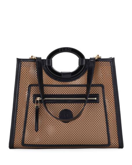712b1bc6 Runaway Medium Perforated Leather Tote Bag