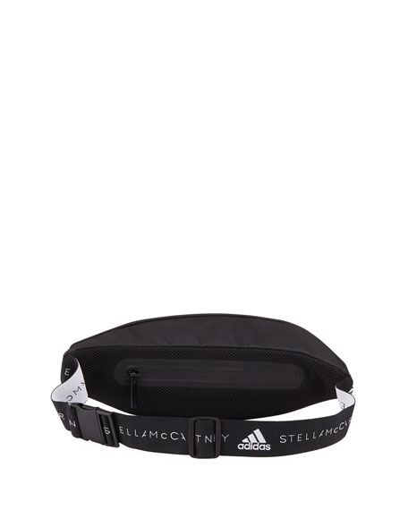adidas by Stella McCartney Logo Zip-Top Polyurethane Belt Bag