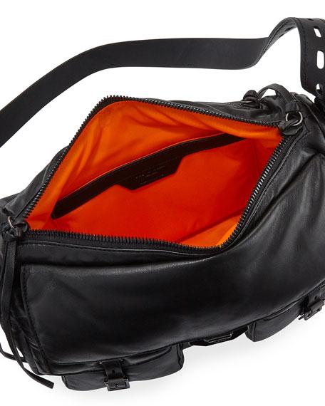 Rag & Bone Field Puffer Leather Crossbody Messenger Bag