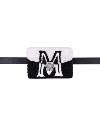 Patricia Mini Shearling Logo Belt Bag