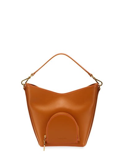 Eva Mini Leather Bucket Bag  Camel