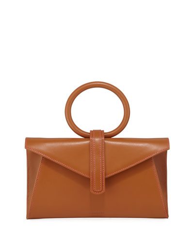 Valery Mini Leather Satchel Bag  Camel