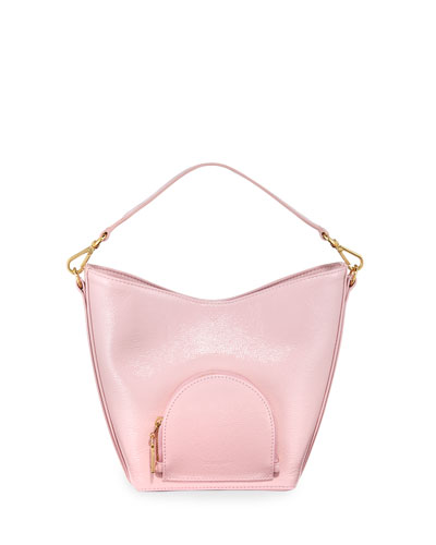 Eva Mini Soft Leather Bucket Bag  Pink