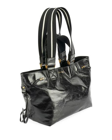 Isabel Marant Bagya New Crackled Tote Bag, Black