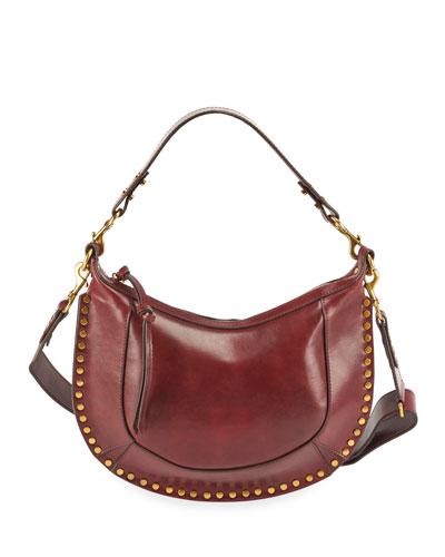 Naoko Glossy Leather Hobo Bag