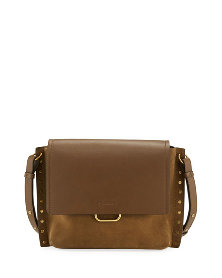 Isabel Marant Asli Studded Leather/Suede Shoulder Bag