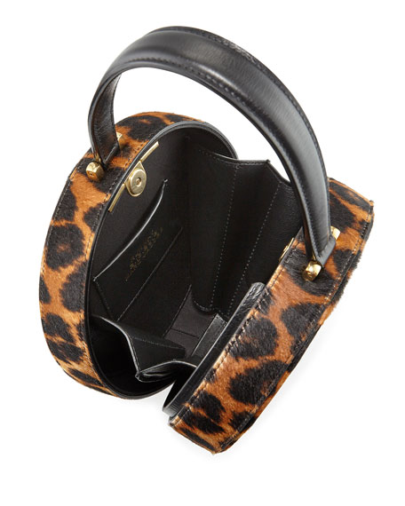 The Marc Jacobs The Large Calf Hair Top-Handle Hat Box Bag