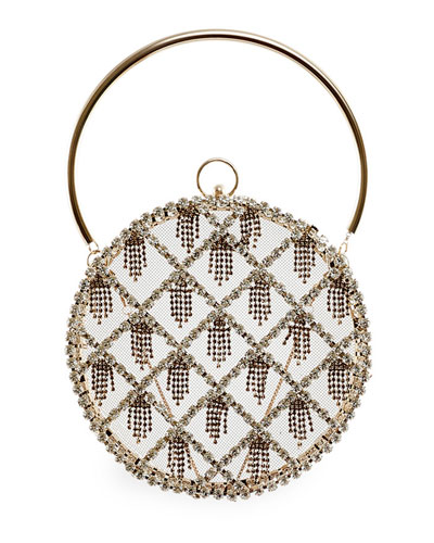Gautier Embellished Circle Bag