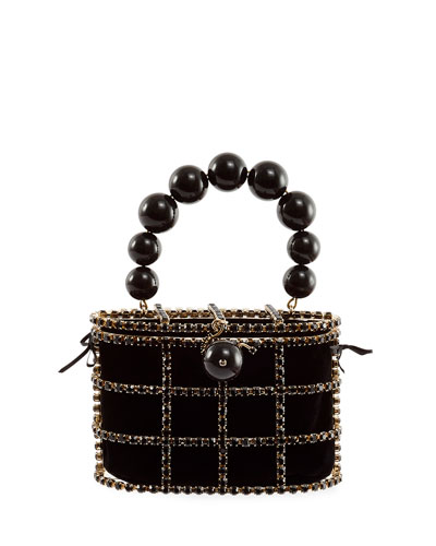Holli Pearly Cage Box Minaudiere