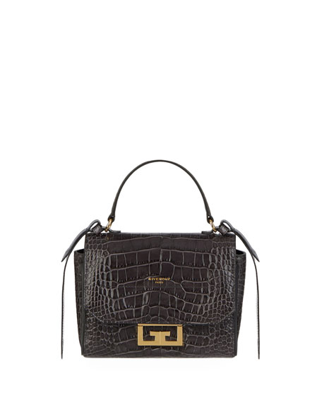 Image 4 of 4: Givenchy Eden Mini Crocodile-Embossed Crossbody Bag