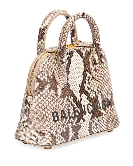 Balenciaga Ville XXS Python Top-Handle Bag