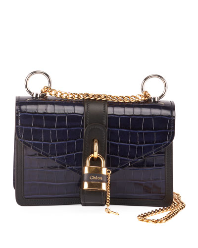 Aby Croco Chain Shoulder Bag