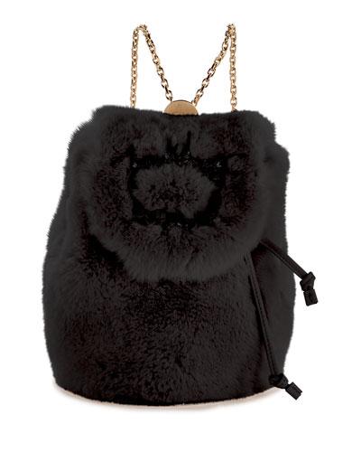 Broche Mini Fur Backpack
