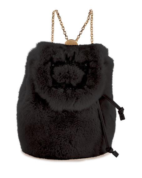 Roger Vivier Broche Mini Fur Backpack