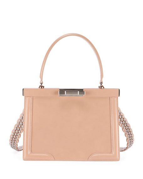 ALAIA Cecile Small Framed Top Handle Bag