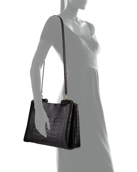 Nancy Gonzalez Large Chain Center Zip Shoulder Bag