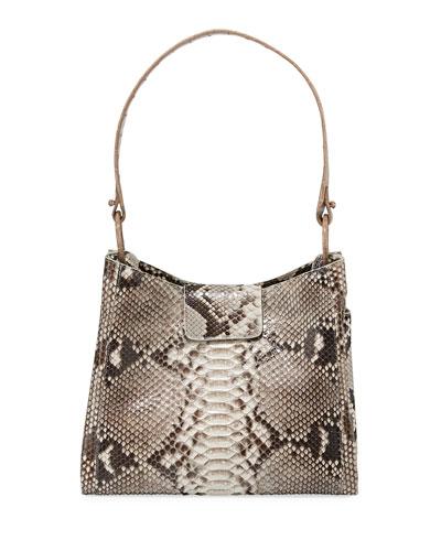 Medium Crocodile and Python Hobo Bag