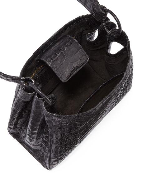 Nancy Gonzalez Medium Soft Crocodile Hobo Bag