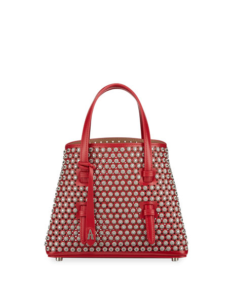 ALAIA Mina Mini Cutout Stud Top Handle Bag