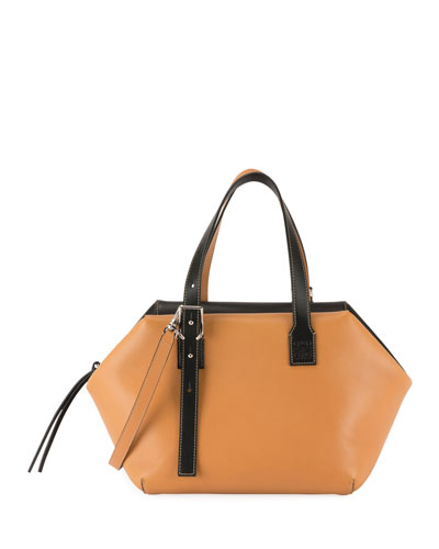 Cube Two-Tone Top-Handle Bag