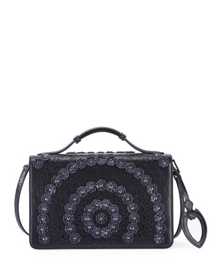 ALAIA Franca Medium Vienne Fleur Crossbody Bag