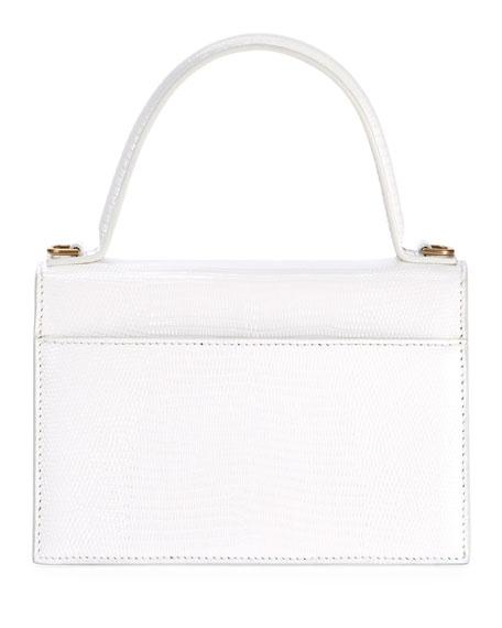 Balenciaga Sharp XS Lizard-Embossed Top-Handle Bag