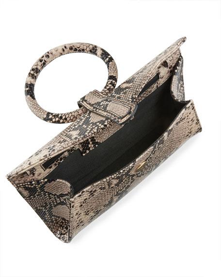 Complet Valery Mini Python-Print Top Handle Bag