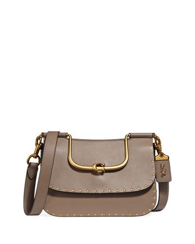 Ellie Glove-Tanned Rivets Crossbody Bag