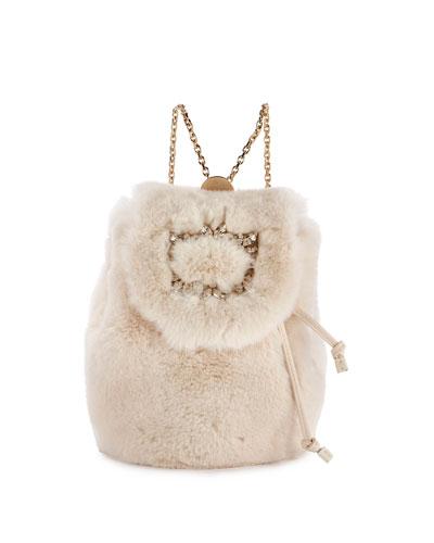 Broche Fur Mini Backpack