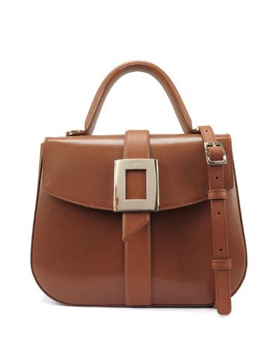 Beau Vivier Smooth Goat Leather Top-Handle Shoulder Bag