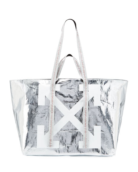 New Commercial Metallic Tote Bag by Off White