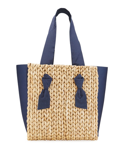 Petite Isla Bahia Mixed Media Tote Bag