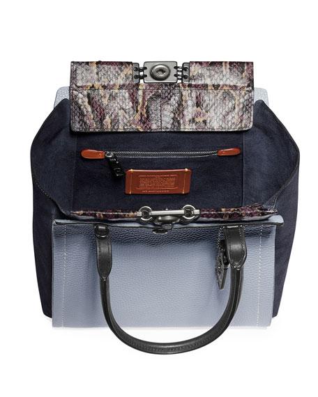 Coach 1941 Bar Colorblock Exotic Tote Bag