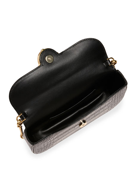 Miu Miu St. Cocco Crocodile-Embossed Crossbody Bag