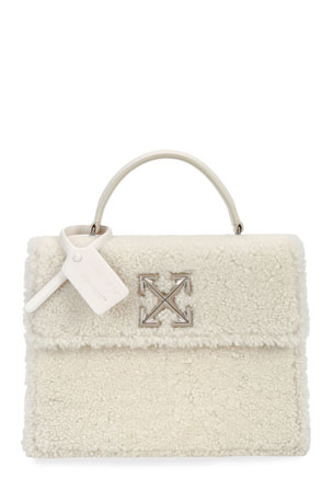 Off-White Montone Jitney 2.8 Fur Top Handle Bag