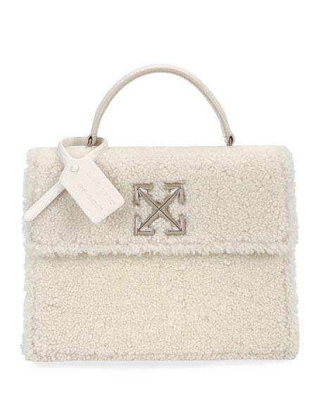 Off-White Montone Jitney 2.8 Fur Top Handle Bag