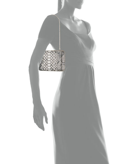 Judith Leiber Couture Seamless Python Crystal Clutch Bag