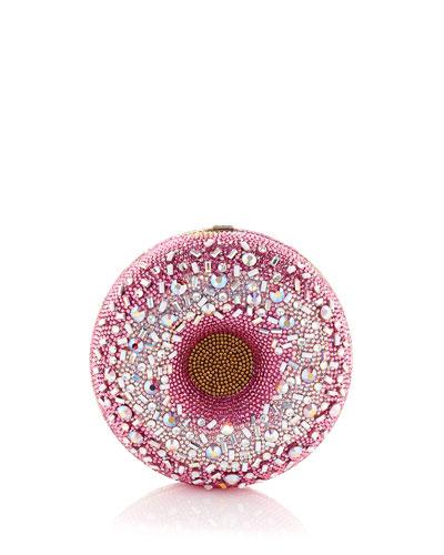Strawberry Sprinkle Donut Clutch Bag