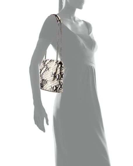 Rebecca Minkoff Edie Python-Print Flap Tote Bag