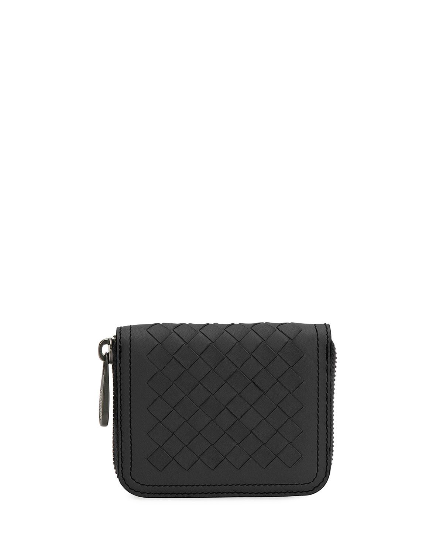 e94a5038d75a54 Bottega Veneta Mini Leather Zip Wallet | Neiman Marcus
