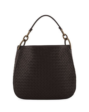 d11ea03a1927 Bottega Veneta Small Loop Intrecciato Woven Hobo Bag
